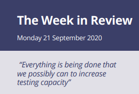 The Week in Review Monday 21st September 2020