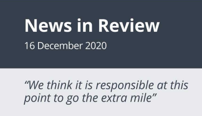 News in Review Wednesday 16th November 2020