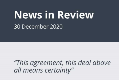 News in Review Wednesday 30th December 2020