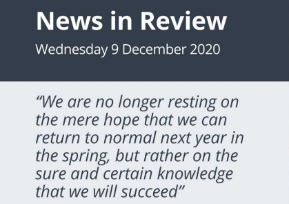 News in Review Wednesday 9th December 2020